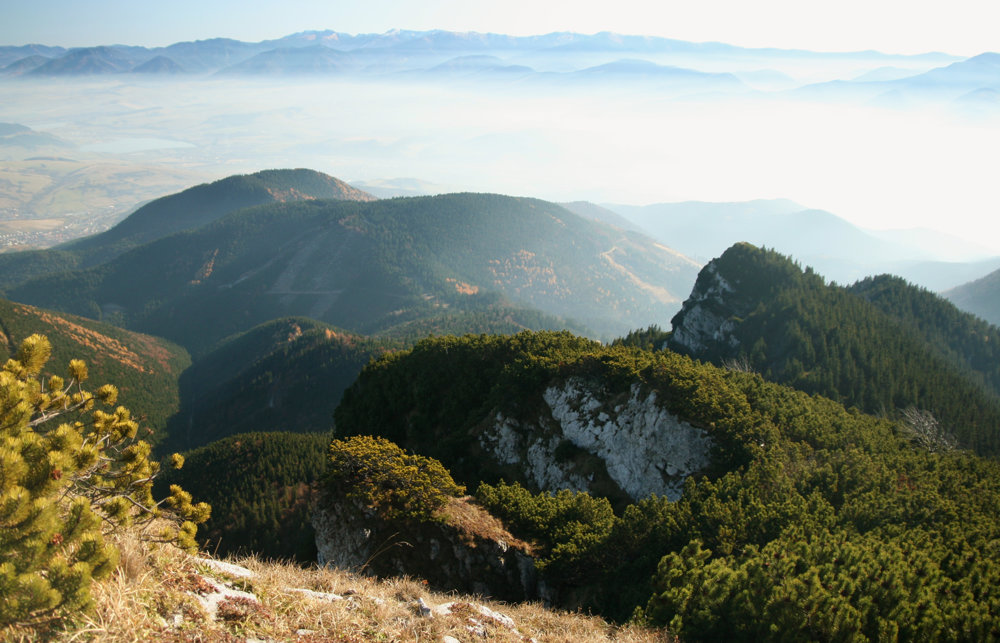 Nízke Tatry z Choča ako na dlani