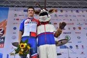 Matúš Štoček v drese pre najlepšieho Slováka na pretekoch Okolo Slovenska 2018.
