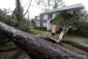 Hurikán Florence udrel na pobrežie.
