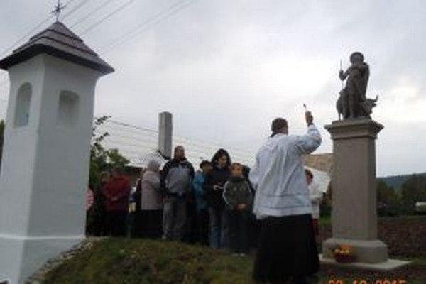 Požehnávanie sochy pri Kláštore pod Znievom.