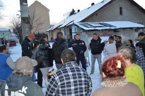 Stretnutie s obyvateľmi Kafendovej ulice.