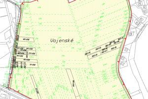 Navrhnutý obvod jednoduchých pozemkových úprav.