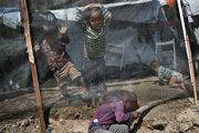 Deti v gréckom tábore Moria.