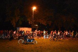 Druhá nočná cyklojazda 8. septembra.