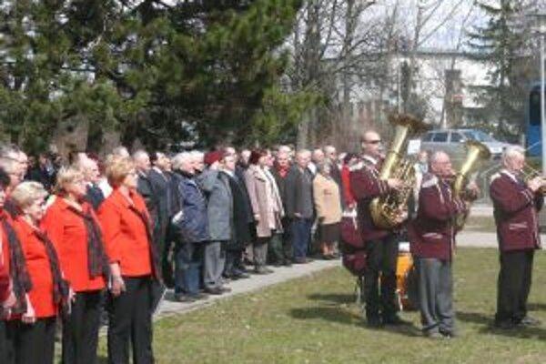 Slávnostné zhromaždenie pri príležitosti 68. výročia oslobodenia mesta Martin.