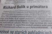 Článok z posledného vydania Pezinčana.