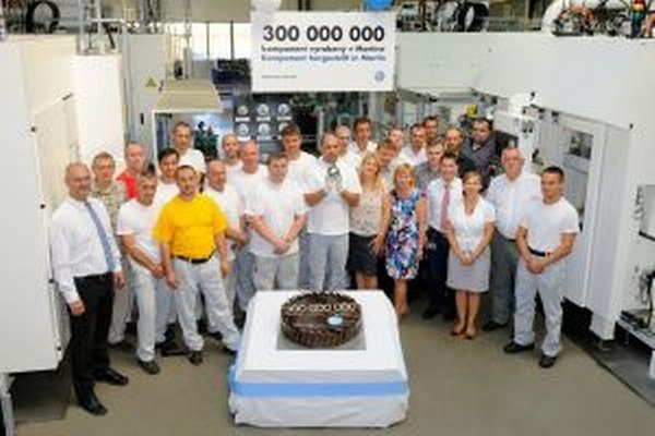 V martinskom závode spoločnosti Volkswagen Slovakia vyrobili už 300-miliónov komponentov.