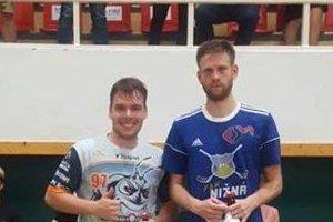 Za najlepších hráčov duelu medzi Žilinou a Nižnou boli vyhlásení Michal Franek (vľavo) a Matúš Medžo.