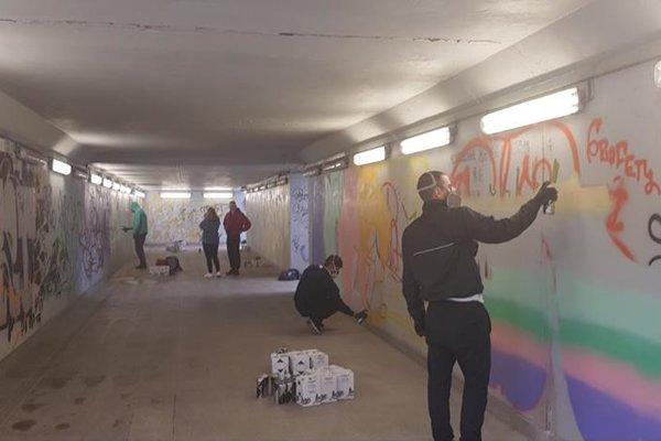 Sobota patrila v Čadci umelcom, ktorí skrášlili priestory podchodu.