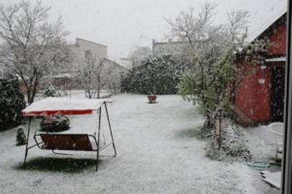 Aprílová snehová pokrývka vydržala len niekoľko dní.