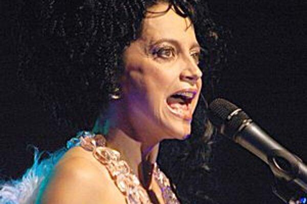 Lucie Bílá počas koncertu.