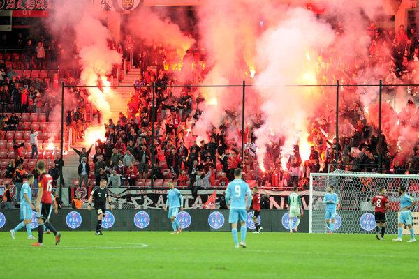 Ilustračná fotografia zo zápasu Slovan Bratislava - Spartak Trnava.