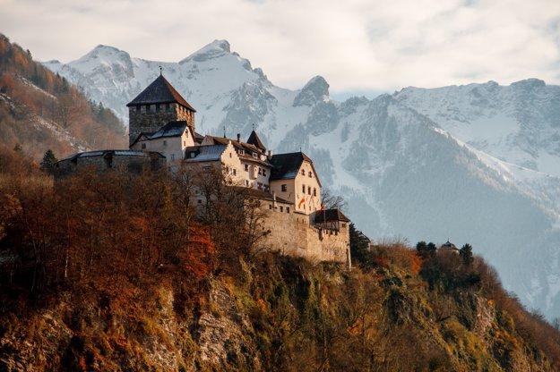 Pohľad na hrad v hlavnom meste Vaduz