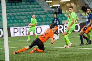 Momentka zo zápasu Žilina - Montpellier.