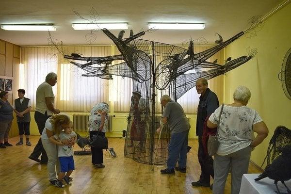 Z drotárskej výstavy v Lúkach. Dnes ju otvoria v Považskej Bystrici.