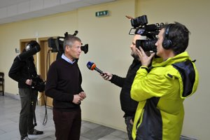 Poľskí redaktori ochotne poskytli rozhovor pre slovenské médiá.