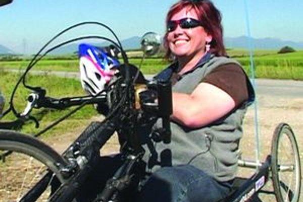 Handbike - Bibiana zažila cez leto úžasný zážitok na špeciálnom bicykli pre hendikepovaných.