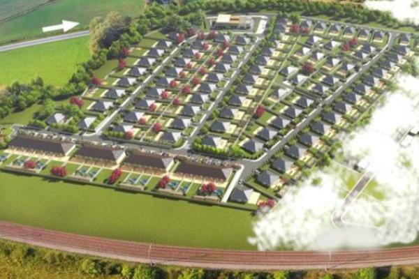Vizualizácia novej obytnej štvrti.