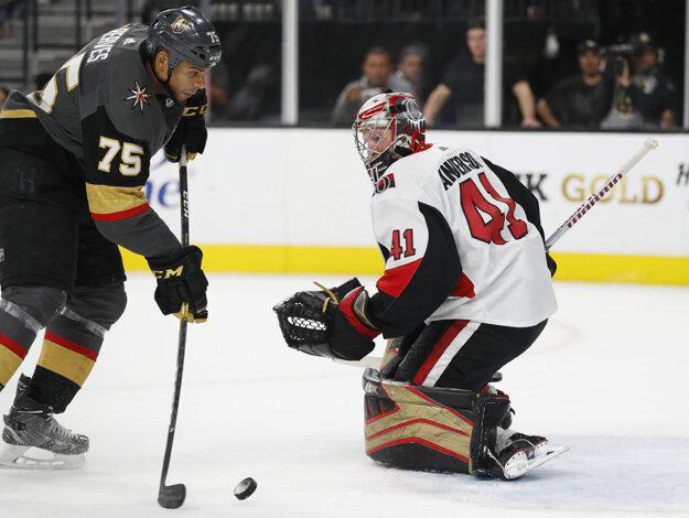Skvelý výkon podal brankár Ottawy Senators Craig Anderson.