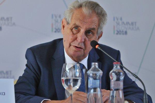 Miloš Zeman, prezident Českej republiky.