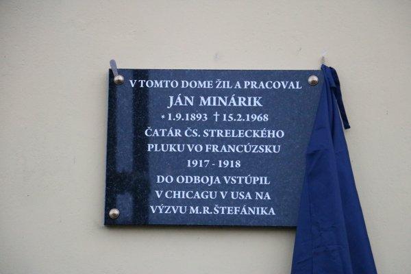 Pamätná tabuľa Jánovi Minárikovi v Drietome