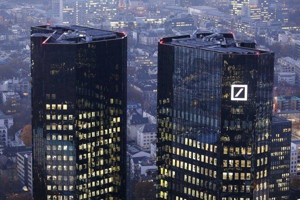 Centrála Deutsche Bank vo Frankfurte nad Mohanom.