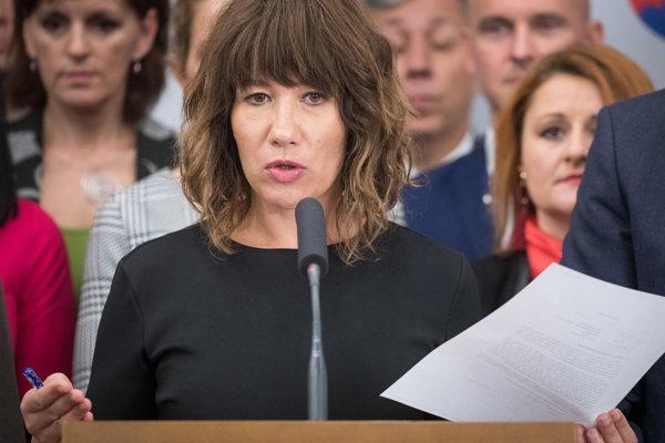 Podpredsedníčka Národnej rady za SaS Lucia Ďuriš Nicholsonová.