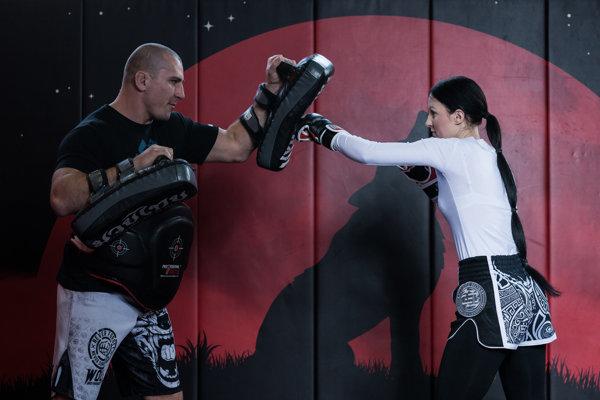 Gabriela Stuchlíková s trénerom Tomášom Bolom.