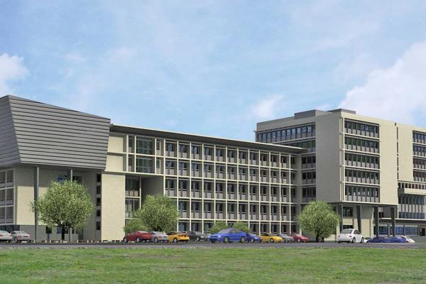 Takto bude budova košických súdov vyzerať po dokončení nadstavby.