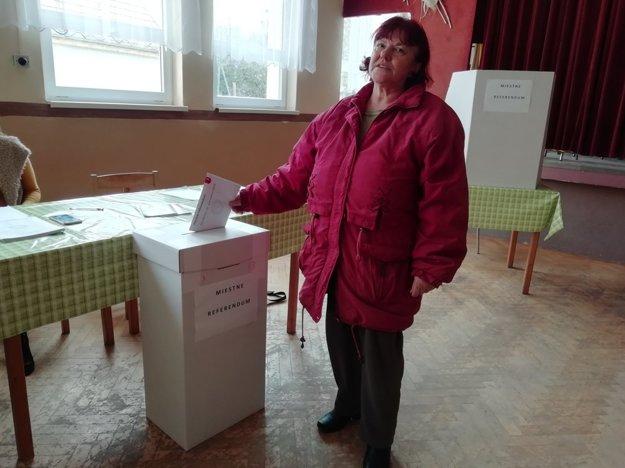Z volieb na Záhorí.