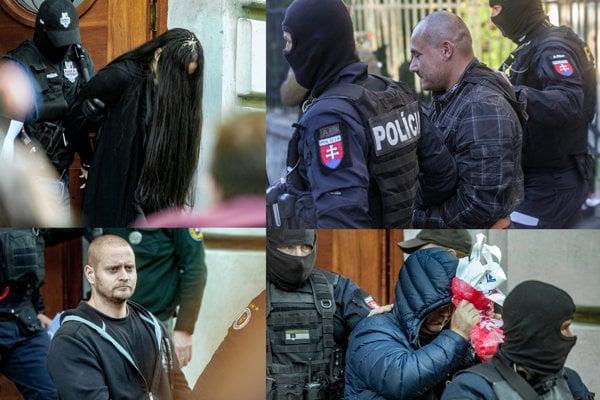 Podozriví z vraždy Jána Kuciaka a Martiny Kušnírovej. Alena Zsuzsová, Tomáš Szabó, Miroslav Marček, Zoltán Andruskó