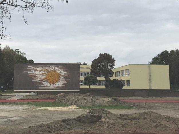 Vizualizácia umiestnenia mozaiky na ZŠ J. Murgaša v Šali.