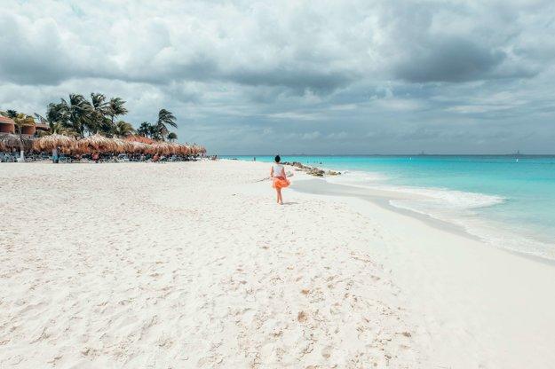 Moja obľúbená pláž na Arube, Manchebo beach.