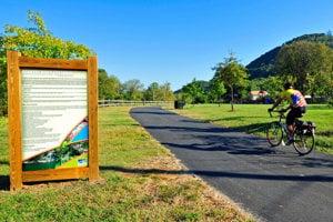 Cyklotrasa môže vyzerať aj takto. Roanoke Valley vo Virginii.