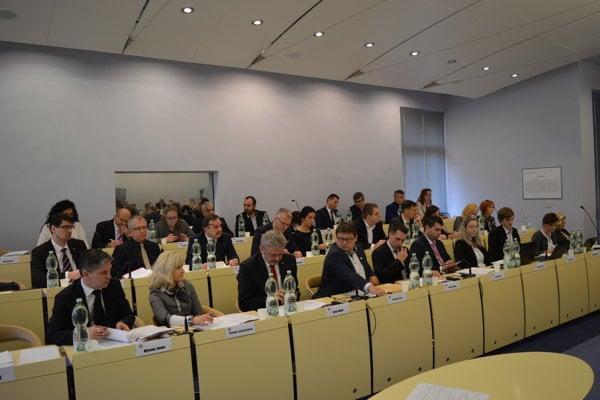 Zasadnutie prešovského mestského zastupiteľstva.