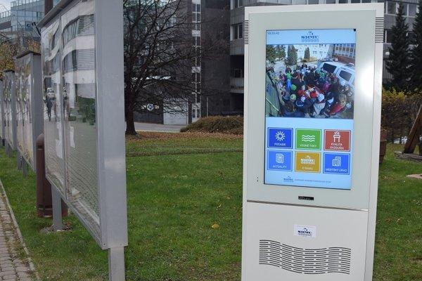 Informačný kiosk SHMÚ.