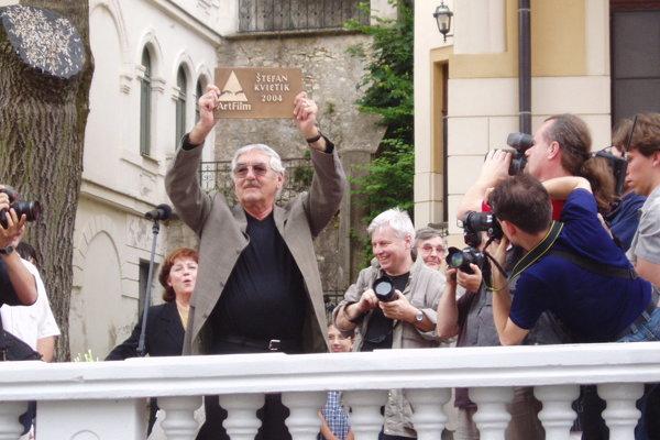 Slovenský herec Štefan Kvietik na Moste slávy