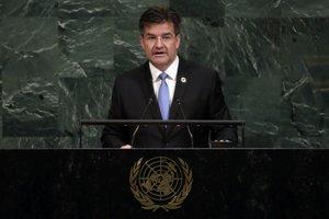 Na archívnej snímke z 19. septembra 2017 ako predseda Valného zhromaždenia Organizácie Spojených národov.