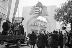 Nové Zámky 8. novembra 1938.