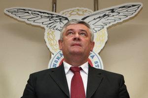 Ján Slota na programovej konferencia SNS v roku 2009.