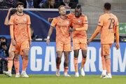 Hráči Olympique Lyon. Ilustračná fotografia.