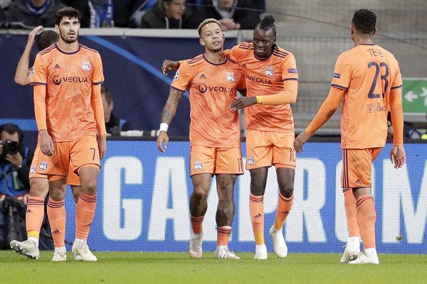 Hráči Olympique Lyon - ilustračná fotografia.