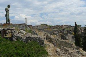 Archeologický park Pompeje.