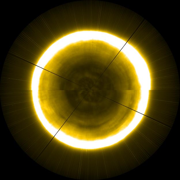 Vizualizácia severného pólu Slnka.