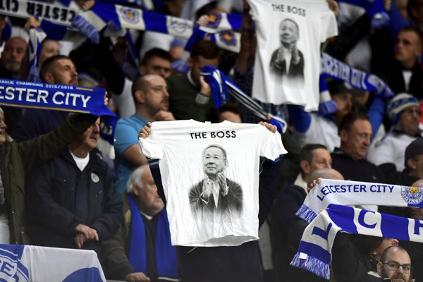 Fanúšikovia tímu Leicester City vzdali hold tragicky zosnulému majiteľovi klubu.