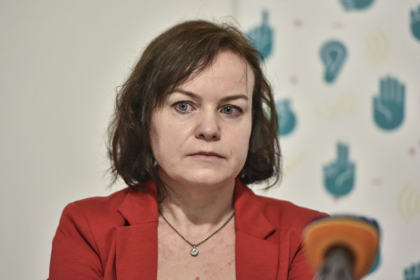 Šéfka nadácie Zastavme korupciu Zuzana Petková.