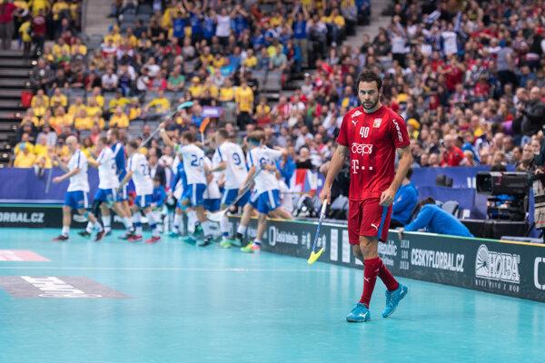 Momentka zo zápasu Česko - Fínsko.