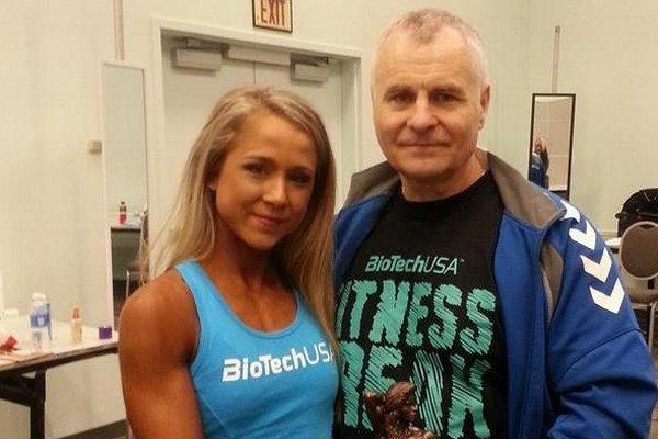 Veľký úspech si na Arnold Sports Festivale vybojovala fitnesska Dominika Multáňová. Na fotografii strénerom Ľubomírom Hečkom.