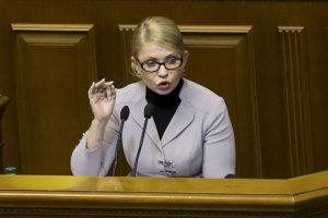 Líderka ukrajinskej strany Vlasť (Baťkivščyna) Julija Tymošenková.