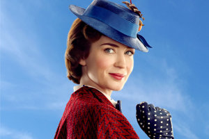 Emily Blunt vo filme Návrat Mary Poppins